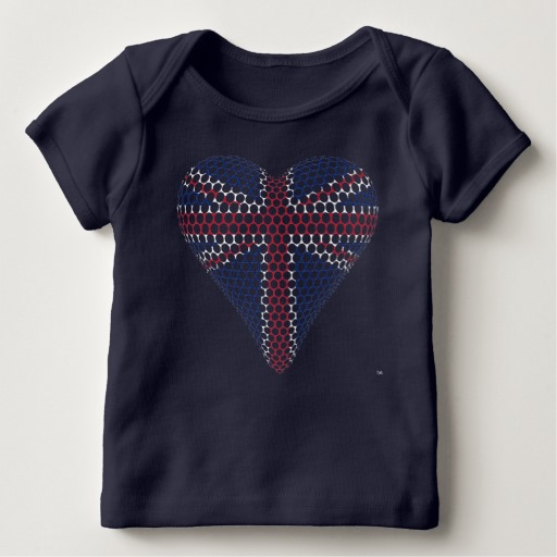 union jack heart tee shirt